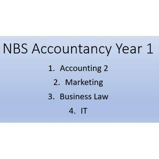NBS Accountancy Year 1 Notes/Bibles