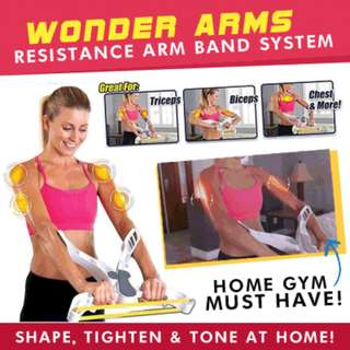 WONDER ARMS * Resistance Arm Band System * Burn Calories * Home Gym * Exercise Equipment * Work Out