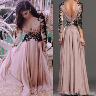 Plus size Long gown pink