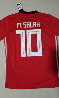 (INSTOCK) WORLD CUP 2018 EGYPT BEST PLAYER NO.10 MO SALAH JERSEY