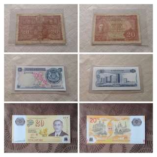 Vintage Currency Notes