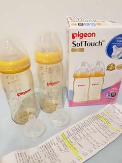 Pigeon Soft Touch Wide Neck PPSU Twin Bottle