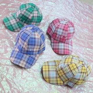 英文格子造型中性老帽