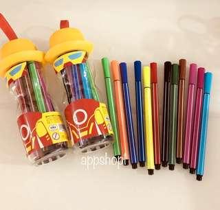 Color pen (yellow) for hero theme party goodies favors, children goodie bags gift, door gift