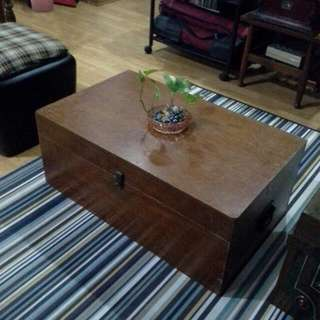 ANTIQUE SOLID TEAKWOOD BOX / TRUNK