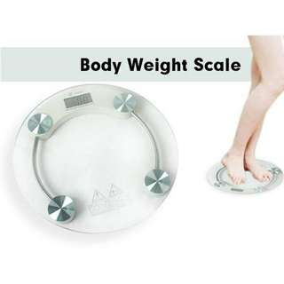 Tempered Glass Digital Round Weight Scale