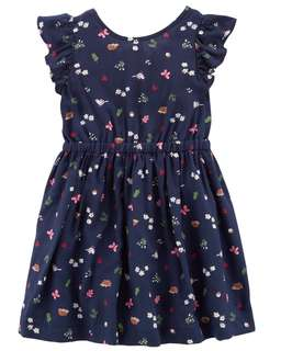 Carter's Floral bow tie dress