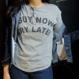 buy now or cry later tshirt by berskha