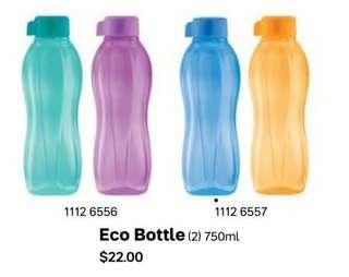 Tupperware Eco Bottle 750ml Screw Cap - BPA Free