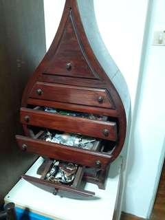 Antique 5 drewers heavy teak wood