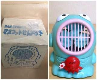 ** 分享 ** Sanrio Hangyodon 水怪 1986 年 6 吋高 人形電風扇 (Made in Japan)