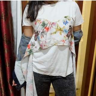floral tshirt by stradivarius