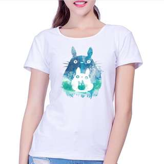 🎠 FLASH DEAL - Plus Size 3X Totoro Unisex Japanese Stretchable Oversize Graphical Tee Shirt