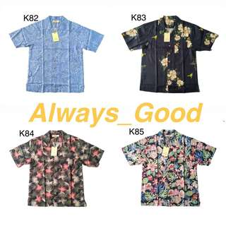 5/10 Vintage- 夏威夷 海島風情 一起去海邊吧 短袖襯衫
