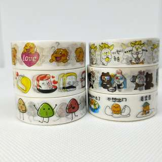 *New* Set of 6 Washi Tapes