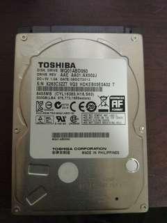500GB 2.5吋內接硬碟 toshiba