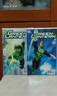 DC Green Lantern issue 1 and 2 set. 2005