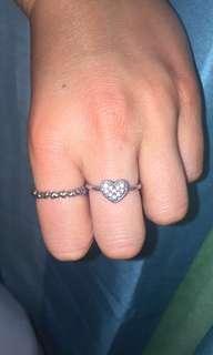 Real Silver PANDORA Rings (Size 6)