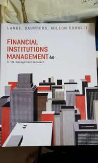 *BRAND NEW* Murdoch Textbook - Financial Institutions Management