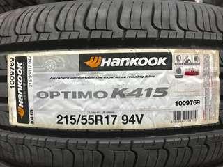 215/55R17 Hankook Optimo K415