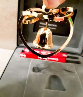 Georg Jensen Special edition of christmas bell,復刻紀念版,24k gold plated