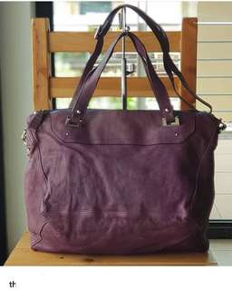 Authentic Rabeanco Bonham II Purple Two-way Genuine Leather Sling