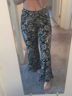 BNWT Floral flare pants