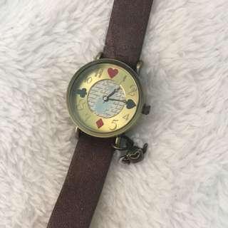 日本品牌Lucero 愛麗絲夢遊仙境風格 復古手錶