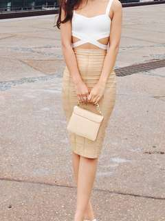 Crop top and bandage skirt