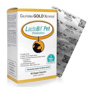 California Gold Nutrition - LactoBif Pet Probiotics (5 Billion CFU, 60 Veggie Caps)