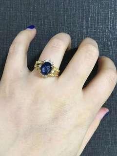 糖果🍬天然蓝宝石戒指💍