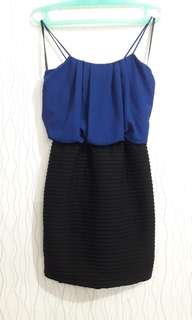 Mini Dress - Gaun Pesta Biru Tua