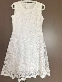 Miz Apparels beautiful and elegant working white dess