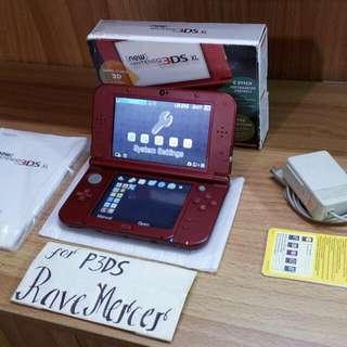Selling New Nintendo 3DS XL US Metallica Red (Fix price, No swap)
