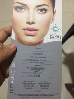 ISkin Oxyjet Infusion Therapy (worth 5,000)