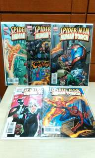 Marvel Spiderman Human torch five issues set.
