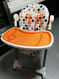 Price Down‼️Preloved Adjustable Baby High Chair / 4 level / Roller Caster