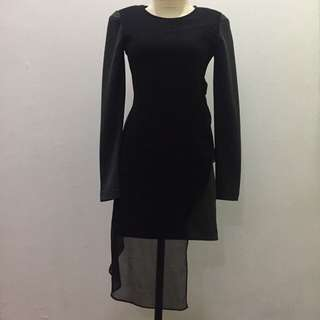 (X)SML Black-Grey Night Dress