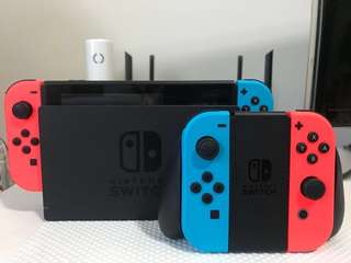 [for rent] Nintendo Switch with 2 games and 2 joycons