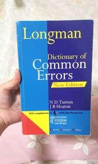 Longman Dictionary of Common Errors