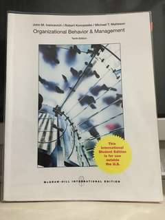 Organisational behaviour and management