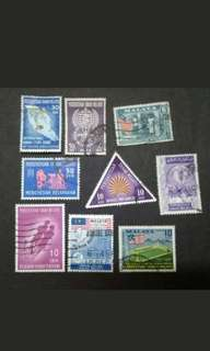 Mix Collection Of 1957-1962 Federation Of Malaya - 9v Used Stamps