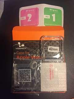 Apple Watch 42mm 鋼化膜 連透明保護殻