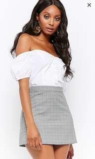 Glen Plaid A-Line Mini Skirt