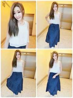 🚚 全新現貨代購💲 490今天訂明天出❤️   #韓妞最愛高品質日本雙綁繩不透氣質長裙