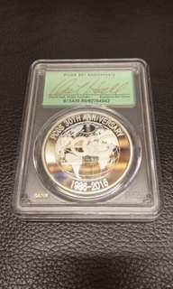 簽名限量版 PCGS 三十周年 記念幣