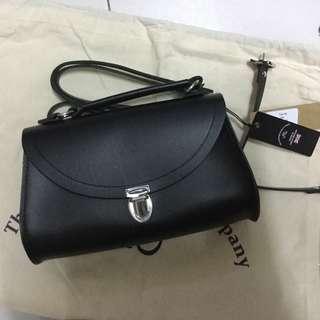 Cambridge satchel 黑色 poppy bag