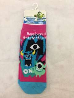 迪士尼 怪獸公司 襪子 Disney Monster Inc. Socks