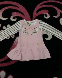 Set dress flowy stripe 2-3y import