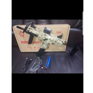 Airsoft MP7 Gel Blaster Camouflage Electric Auto Upgradeable 370 Motor 7-8mm-READY STOCK